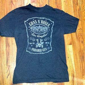 Women's size medium short sleeve gray Guns N' Roses Los Angeles tshirt